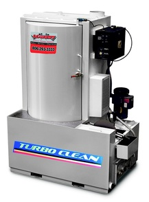 Turbo Clean front loader solvent free 220/460 volt parts washer with 3 or 5 horse power vertical sealless pump and roller door